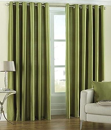 Buy P Home Decor Set Of 2 Premium Heavy Fabric Polyester Eyelet