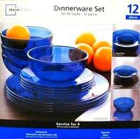 Mainstays Dinnerware Set 12 Piece Set Home Garden Kitchen ...