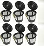 6 x Solo Coffee Pod Filters Compatible with Keurig K cup coffee system--Reusable Coffee Filter (DESIGN 1, 1)