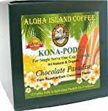 Aloha Island Coffee KONA-POD, Chocolate Paradise Dark Roast, Kona & Hawaiian Coffee Blend, 12-Count Coffee Pods