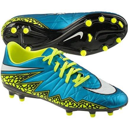 Nike Women's Hypervenom Phelon II FG Soccer Cleat (Blue Lagoon, Volt, Black) Sz. 7