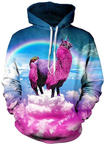 TDOLAH Damen Herbst Winter Kartoon Sweatshirts Spaß Textildruck mit Kapuze Pullover Strickjacke