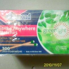 Kitchen Matches Outdoor Modular Diamond Greenlighttm 3 Pack 300 Per X 900 Match Strike Anywhere