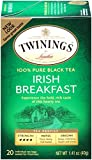 Twinings Irish Breakfast Black Tea, 20 Tea Bags
