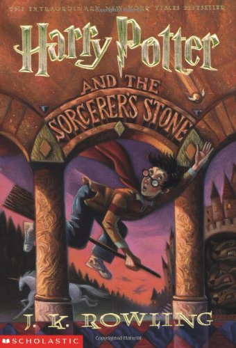 The cover of J. K. Rowling's Harry Potter and the Sorcerer's Stone