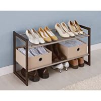 Amazon.com: Neu Home 2 Tier Extra Wide Shoe Rack: Home ...