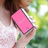 【全5色】 ミニ エアコン 冷却 ファン 小型 扇風機 充電 式 USB ケーブル & 携帯 用 ストラップ & クリーニング クロス 付き (1. 水色 スカイブルー)