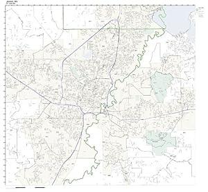 Amazon.com: ZIP Code Wall Map of Jackson, MS ZIP Code Map