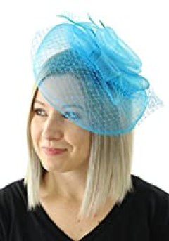 The Royals Fascinator Hat with Hair Comb (Turquoise)