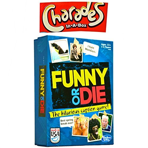 Party Games Funny or Die The Game and 1 Charades In A Box Charades Game Bundle Set