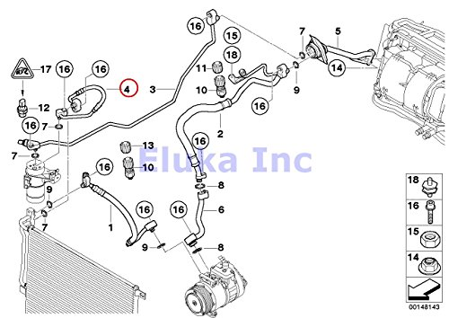 BMW Genuine Coolant Lines A/C Hose