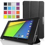 MoKo Google New Nexus 7 用 スマートカバー&ケース (FHD 2013年 第二世代) (Black ブラック)