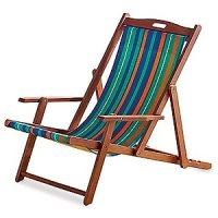 Amazon.com: Lightweight Reclining / Folding Striped Wood ...