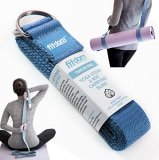 2-IN-1-Premium-Lightweight-Yoga-Stretch-Strap-Belt-Mat-Carrier-Sling-6-foot-Long-100-Cotton-Perfect-Yoga-Accessory-for-Women-Men-Beginners-to-Pros-Fits-All-Yoga-Mats-Maintain-Poses