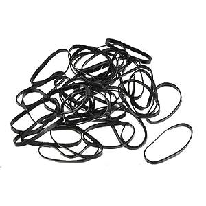 Amazon.com : 40 Pcs Black Ponytail Hair Rubber Bands w