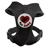 Best Choke-Free Dog Harness to keep your pet safe and comfortable. Harnesses are far superior to a collar to protect the neck and throat of your pet. Sizes for small dogs breeds and puppies. High quality similar to Puppia and Webmaster. Perfect to use in dog training or for a puppy. MEASURE YOUR DOG USING THE SIZE CHART IN THE IMAGES BEFORE BUYING. 100% Satisfaction Guarantee (Black, XS)