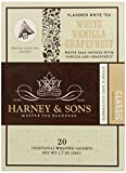 Harney and Sons White Vanilla Grapefruit Tea, 20 Count (Pack of 6)