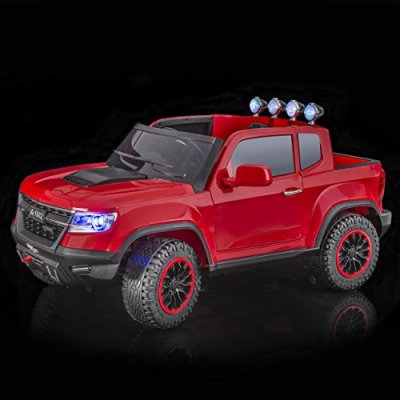 SPORTrax-Chevrolet-Colorado-Style-4WD-Kids-Ride-On-Car-Battery-Powered-Remote-Control-wFREE-MP3-Player-Red