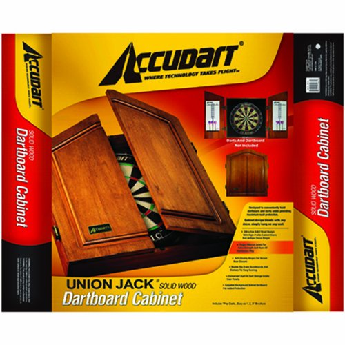 Accudart Union Jack Dartboard Cabinet and Set