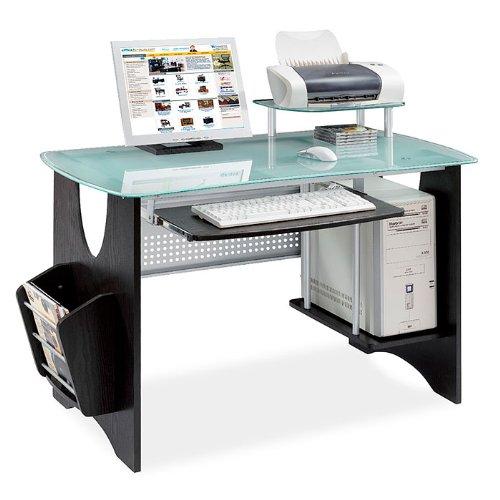 Cheap  Espresso  Frosted Glass Computer Desk  HOME