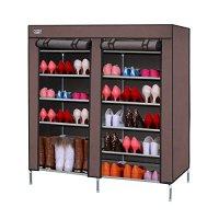 OTTFF Portable Storage Closet Shoe Organizer Rack with 2 ...
