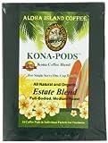 Aloha Island Coffee KONA-POD, Estate Blend Medium Roast, Kona & Hawaiian Coffee Blend,18-Count Coffee Pods