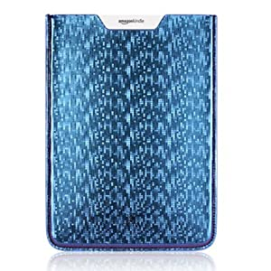 "OCTOVO Faux Leather Kindle Sleeve Case for Kindle (Fits 9.7"" Display, Latest Generation Kindle DX) - Metallic Blue"