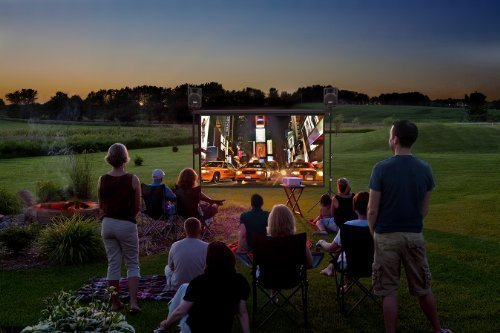 Backyard Theater System 9-foot Outdoor Entertainment System w/ WIFI Blu-ray player