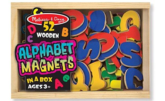 Melissa Doug 52 Wooden Alphabet Magnets In A Box