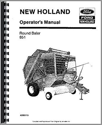 Amazon.com: New Holland 851 Baler Operators Manual