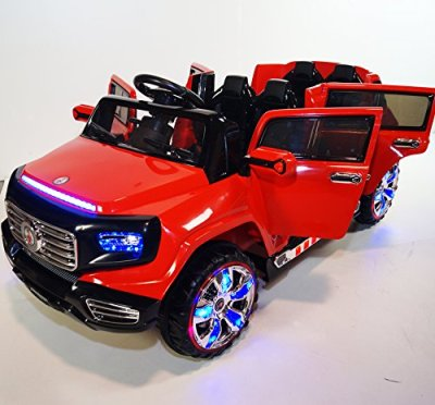 Stunning-2-seater-Big-Ride-On-Suv-Style-12v-Battery-Operated-Car-for-Kids-with-Music-Lights-Doors-MP3-and-Remote-Control