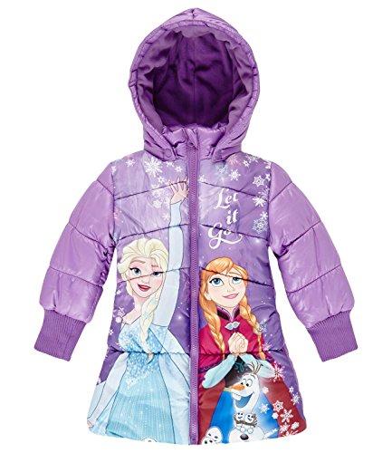 Disney Die Eiskönigin Elsa & Anna Mädchen Winterjacke 2016 Kollektion – lila