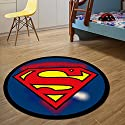 Anime 3D Superman round Rug Thick non-slip mats Soft and Absorbent Bath Mat
