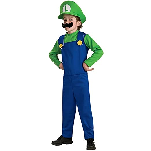 Super Mario Bros. - Luigi Child Costume size Medium 8-10