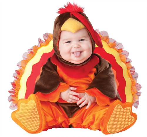 InCharacter Costumes Baby's Lil' Gobbler Turkey Costume, Brown/Orange, Small
