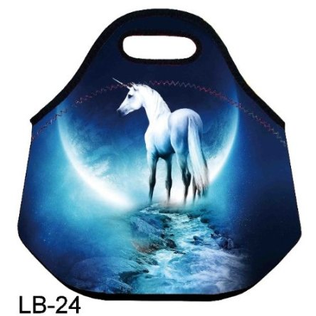 The unicorn kids Insulated Lunch box Food Bag lunchbox Cooler warm Pouch Tote baghandbag