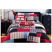AwardWiki - Fireman Firetruck Kids Boys Quilt Bedding Set Twin