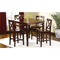 Amazon.com - Dining Table and Dining Chairs 5 Pc Mahogany ...