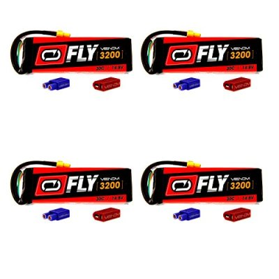Venom-Fly-30C-4S-3200mAh-148V-LiPo-Battery-with-UNI-20-Plug-XT60DeansEC3-x4-Packs-Compare-to-E-flite-EFLB32004S30