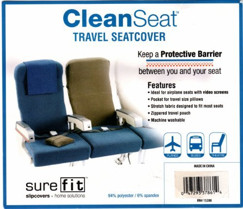 Clean Seat Travel Slipcover Seat Cover For Airplane