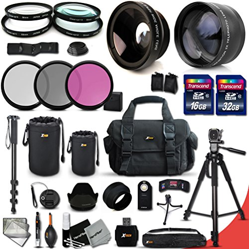 Canon EOS Rebel T6S ACCESSORIES Kit Includes 58mm High Definition 2X Telephoto Lens  58mm High