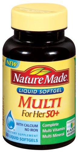 Nature Made Multi For Her 50+ 60 Liquid Softgels (Pack of 3)