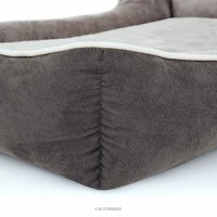 BRINDLE Washable Rectangle Dog Bed with Raised Bolster ...