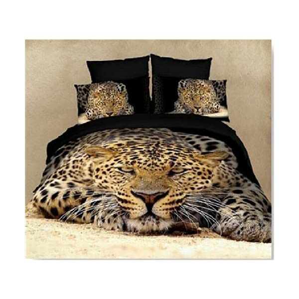 3d Bedding Sets With Big Cats For An Unusual Gift Idea