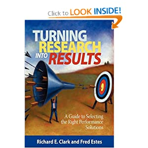 Turning Research Into Results - A Guide to Selecting the Right Performance Solutions (PB)