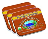 St. Claire's Organics® Ginger Pastilles, 1.5 oz Tin (Bundle of 3)