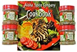 Aloha Spice Company Gourmet Organic Seasoning & Rub Gift Set with Hawaiian Cookbook