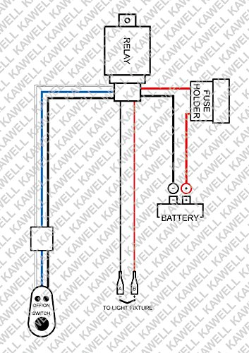 KAWELL® 1 Leg Wiring Harness Include Switch Kit For 300W