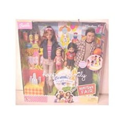 Barbie Gourmet Kitchen Farm Sinks Amazon.com: Doll Set Happy Family Hometown Fair 4 ...