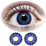 Farbige Kontaktlinsen Monatslinsen Fun Picasso Blue /Blaue ohne Stärken / Dioptrien